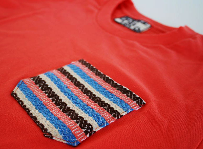 Flor de Mayo Pocket Tee designed by local artisans