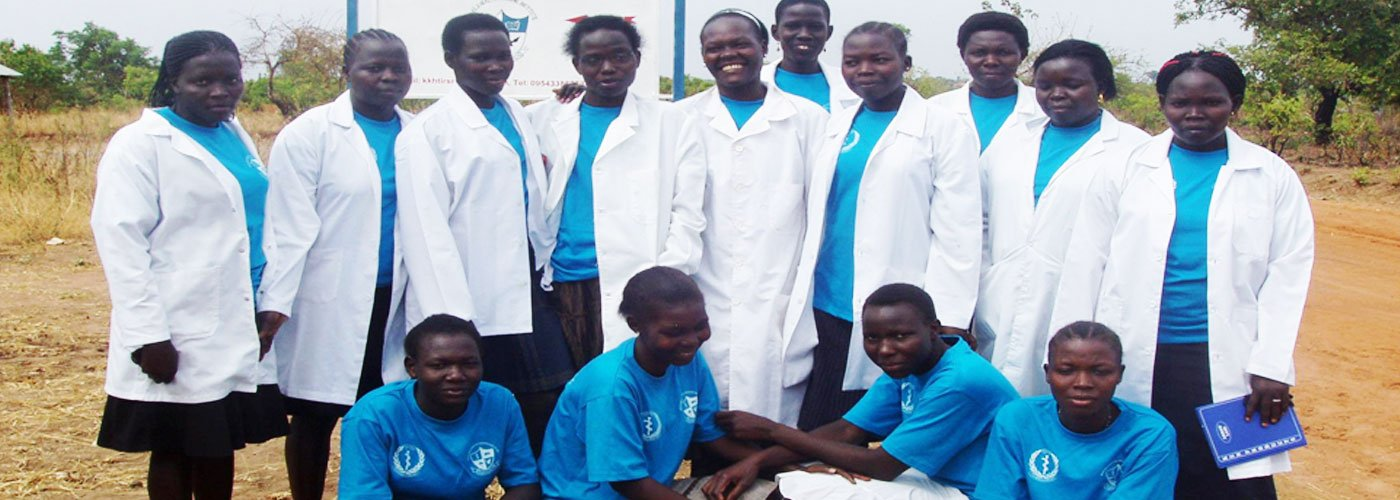 A group of Kajo Keji Health Training Institute students