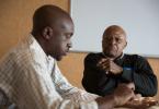 Tendekai from Solar Ear meets Archbishop Desmond Tutu
