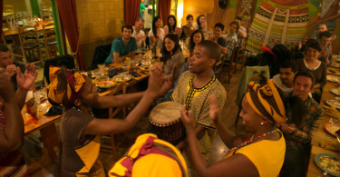 The time spent in South Africa was rounded out by an evening of traditional food, dance, and drumming from all over Africa organized by Deaftronic's Tendekayi Katsiga at The Africa Cafe.