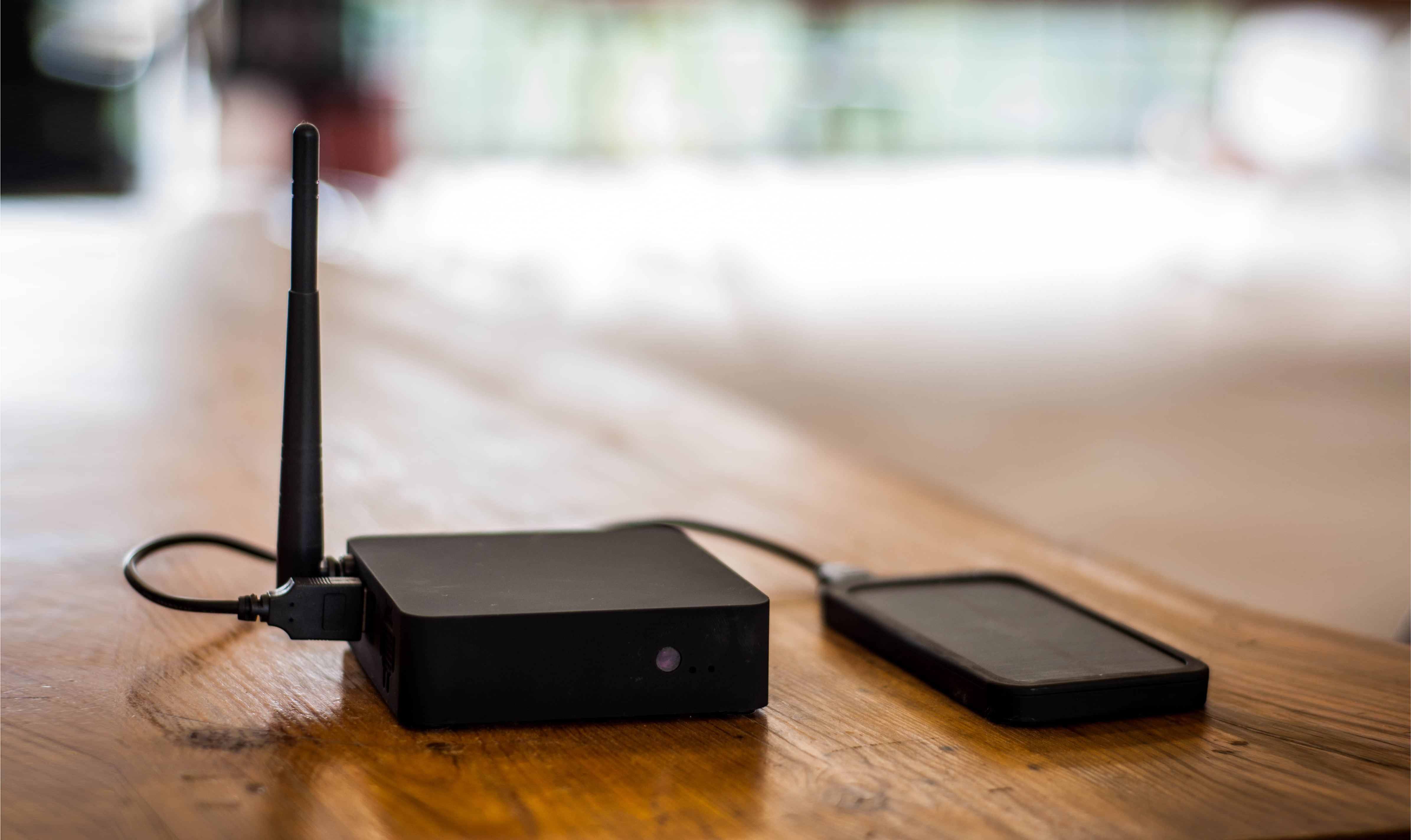 This is Eduze's CLOX. Two boxes are all you need to distribute mobile videos, books and music at high speed, with no data cost, anywhere in the world. // Photo from Eduze