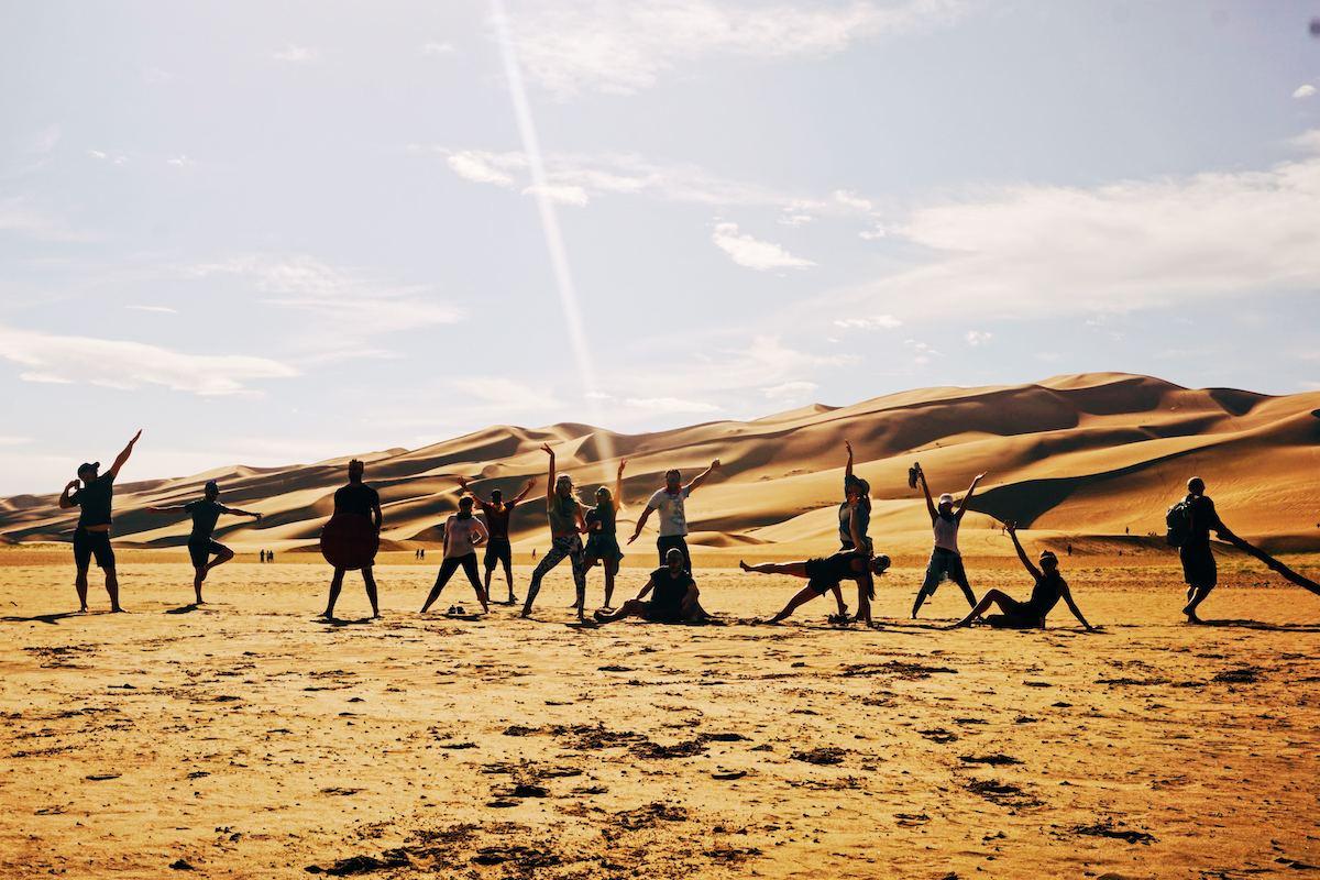 The team in the desert